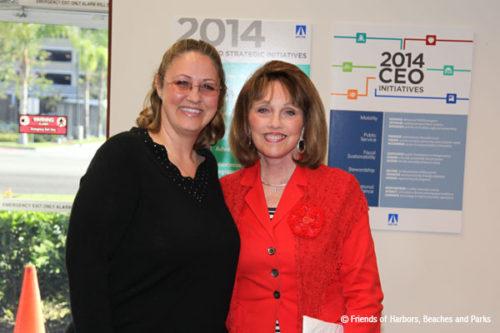 Melanie Schlotterbeck (FHBP) and Supervisor Pat Bates (OCTA)