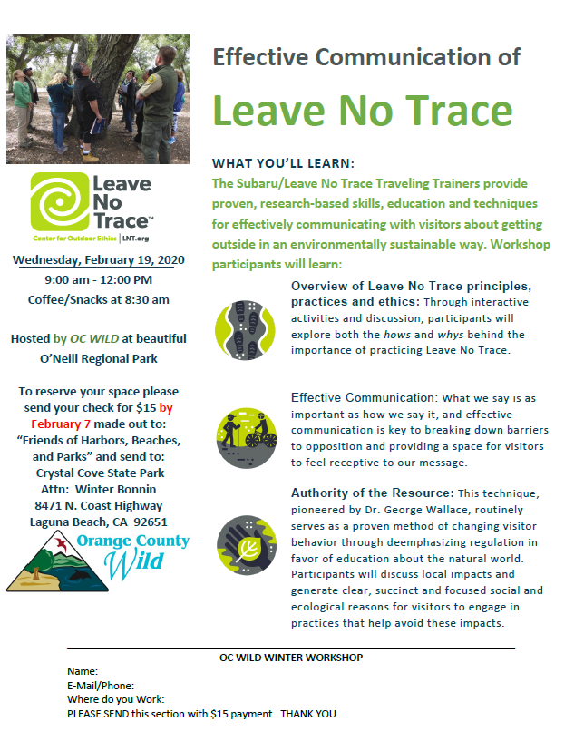 Leave No Trace Workshop